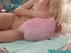 FantasyHD blonde with small tits