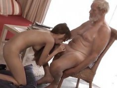 Old Young Big Cock Grandpa Fucked Teen lick dick