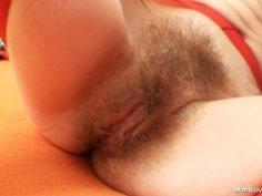Woolly grandma toyed by big-breasted mamma lesbian