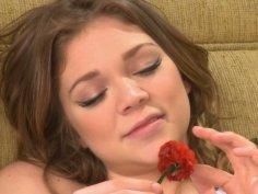 Shy teeny slut Jessie Andrews gets her boobies sucked