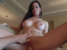 Busty and cute black head Mandy Haze wants to get her cooch poked doggy today