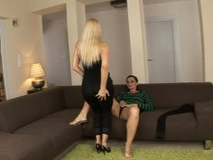 Stunning chicks Sandy and Cameron Cruz undress each other