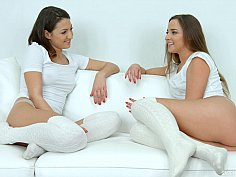 Lesbian scene with lengthy foreplay