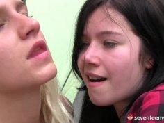 Foursome lesbian orgy with Tessa Sara and Christina.