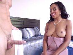 Johnny Sins shows his big boner to Anya Ivy