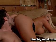 James Deen got experienced ass and massive tits by Miss James Carrington
