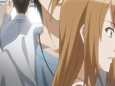 Gagged hentai babe gets gangbanged