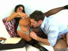 Dirty whore Angelina Valentine lets her asshole to be eaten