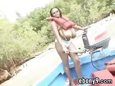 Ebony Woman With Massive Tits