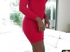 Busty Ebony slut with a big ass enjoys getting fucked hard